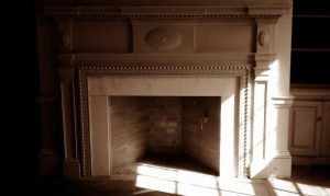 200 yr old house Rumford fireplace build 2011