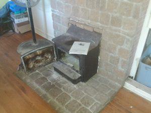 insert wood stove broken