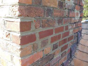 new brick spalling chimney repair