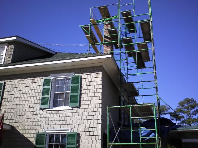 Historic Chimney Rebuild Progress