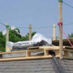 Platform Staging on a slate roof