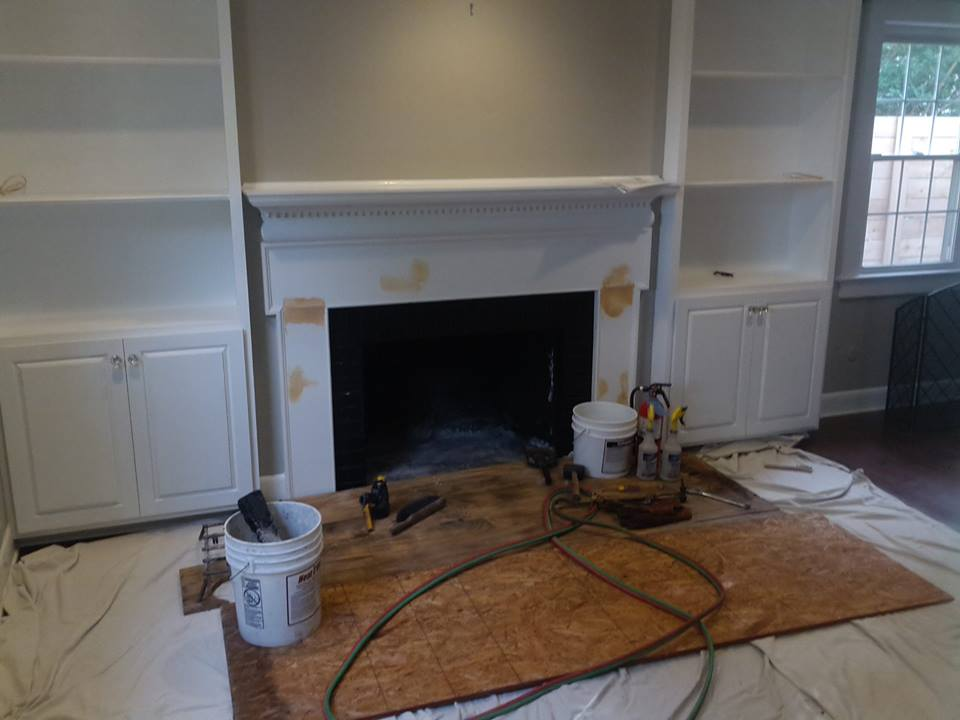 new fireplace and flue system