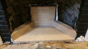 Rumford fireplace in progress
