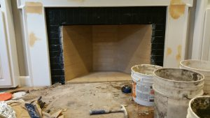 Brand new rumford fireplace built by our team