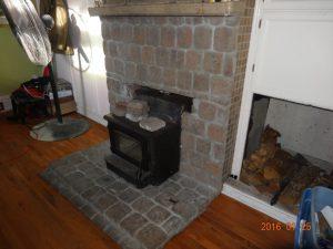 insert wood stove fixed