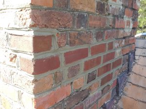 new brick spalling chimney repair